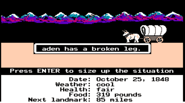 classic oregon trail game free download