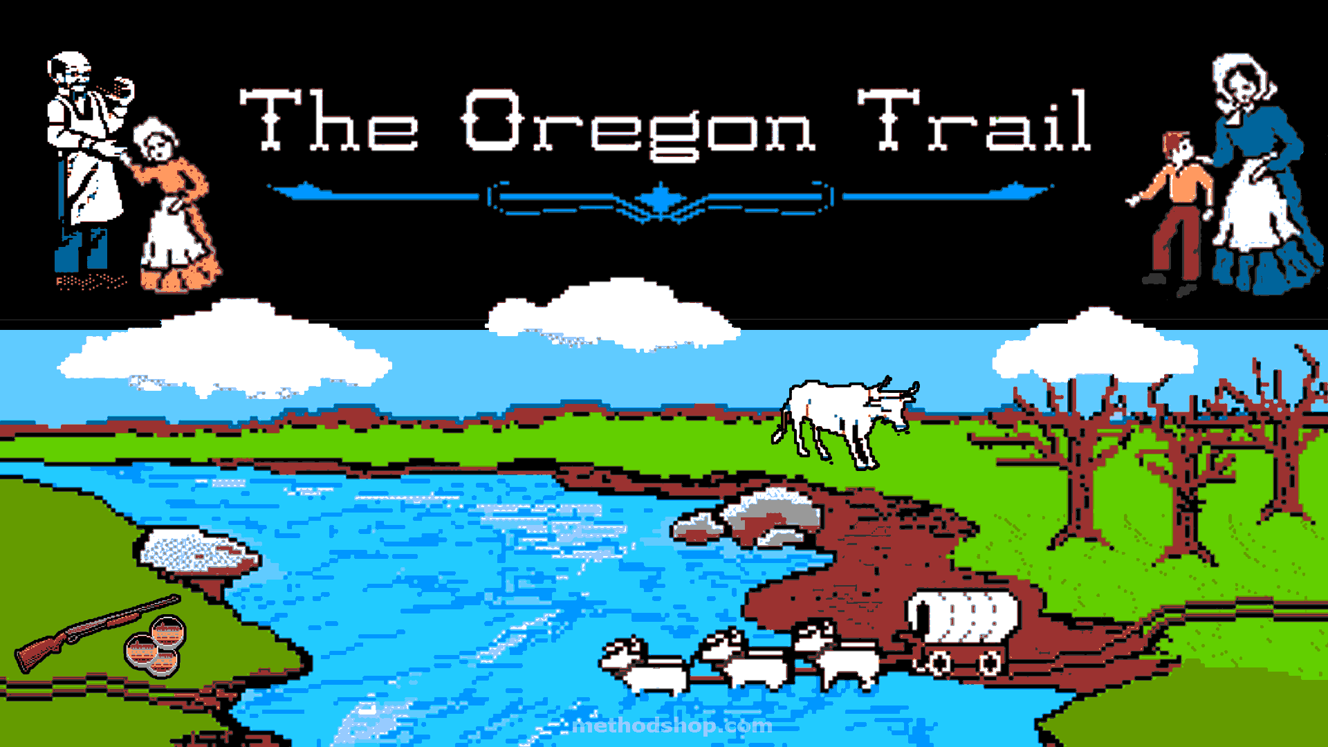 Image result for original oregon trail game