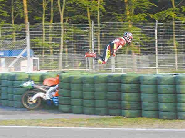 Racer Vs Tire Barrier