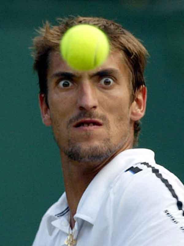 Face Vs Tennis Ball