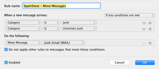 """Create """"Move Messages"""" Rule"""