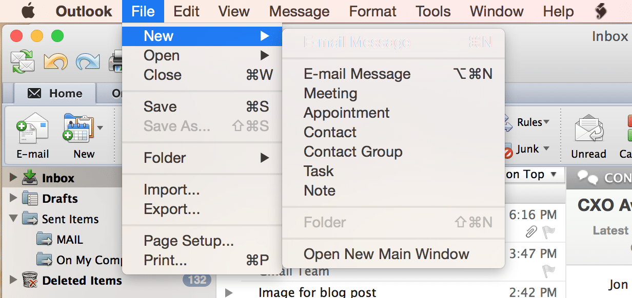 outlook-new-email