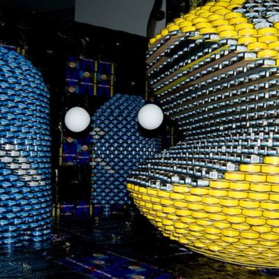 Have You Seen This Giant Pac-Man Art Sculpture Made Out Of Tin Cans?