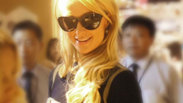Paris Hilton in Shanghai Pudong Super Brand Mall
