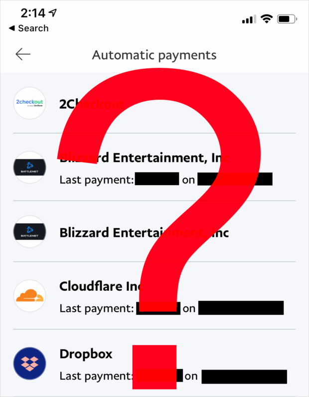 Review Your Subscriptions &Amp; Select A Merchant To Cancel