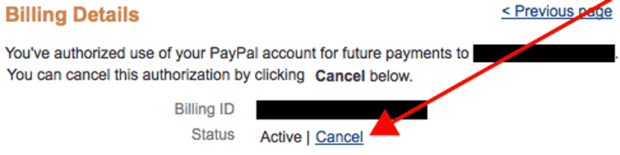 Cancel Recurring PayPal Payment