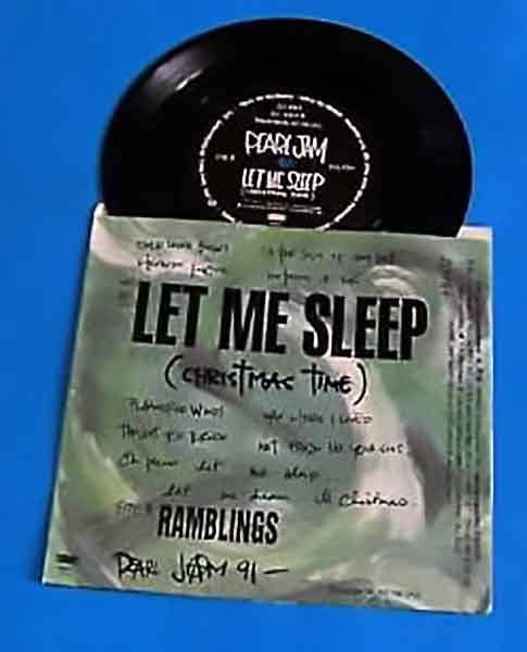 "Pearl Jam ""Let Me Sleep"" Record"