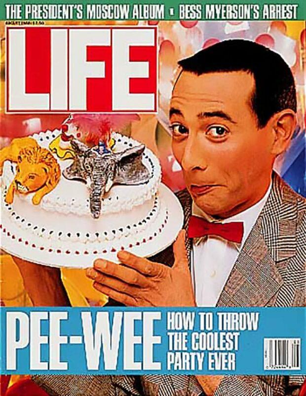 Pee-Wee Herman On Life Magazine