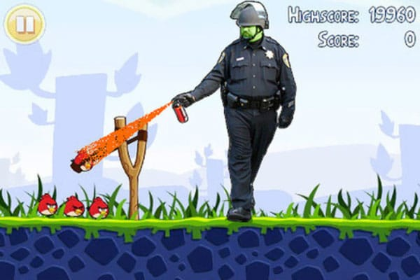 Pepper Spray Meme: Angry Birds Version