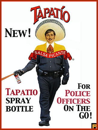 Pepper Spray Meme - Hot sauce pepper spray for Police officers on the go.