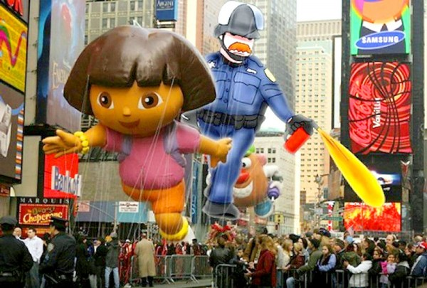A Lt. John Pike Hot Air Balloon In The Macy's Thanksgiving Day Parade