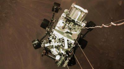 Perseverance Mars Landing Photos