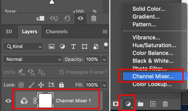 The Channel Mixer Layer In Photoshop