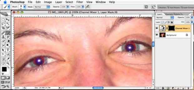 How To Remove Red-Eye In Adobe Photoshop