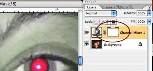Add A Layer Mask To Your Channel Mixer Layer