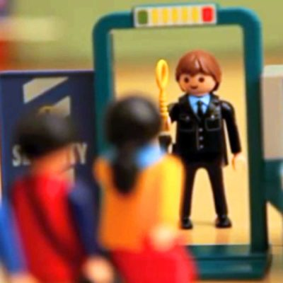 Playmobil Security Checkpoint Toy Set