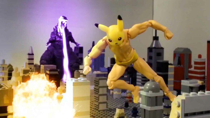 Pexachu VS Godzilla: Blast