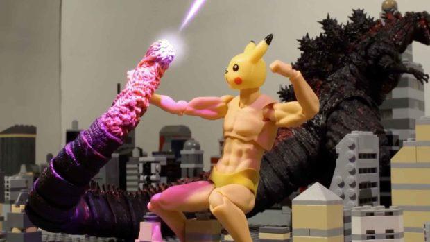 Pokemon Vs Godzilla: Tail Punch