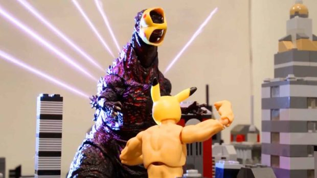 Godzilla'S Face Being Covered By Pexachu&Rsquo;S Underwear