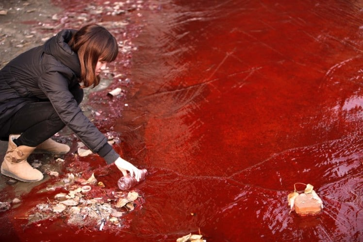 Pollution-Red-River-Drink