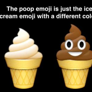Yep, The Poop And Ice Cream Emojis Are Exactly The Same!?