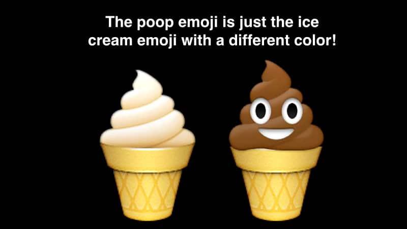 Poop Ice Cream Emoji Same But Different