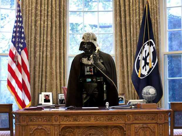 President Vader At The White House - Funny Star Wars Pictures