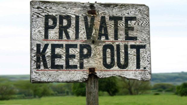 Private Keep Out - No Trespassing