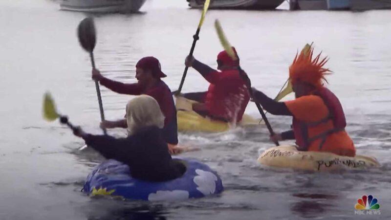 Pumpkin Boat Racing