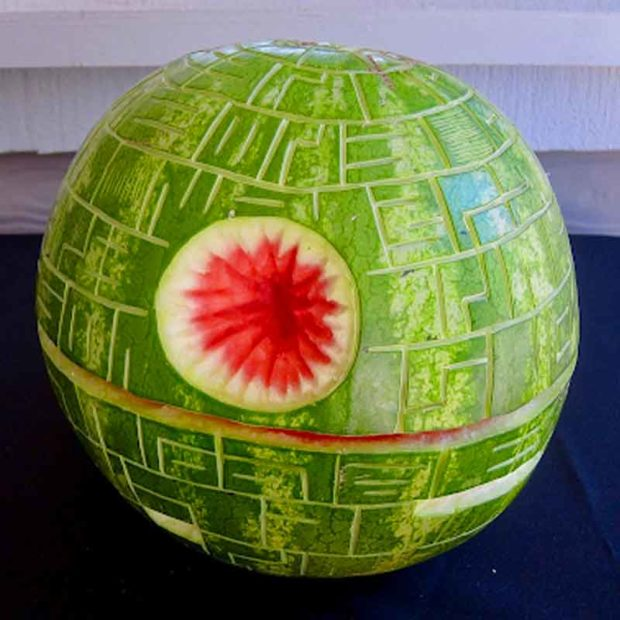 Star Wars Death Star Watermelon Carving