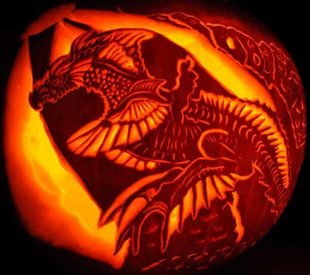 Dragon - Carving Pumpkins