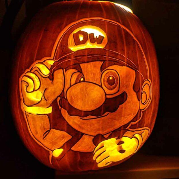 Mario Party Pumpkin Carving
