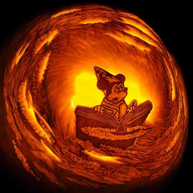 Mickey Sorcerer Pumpkin Carving
