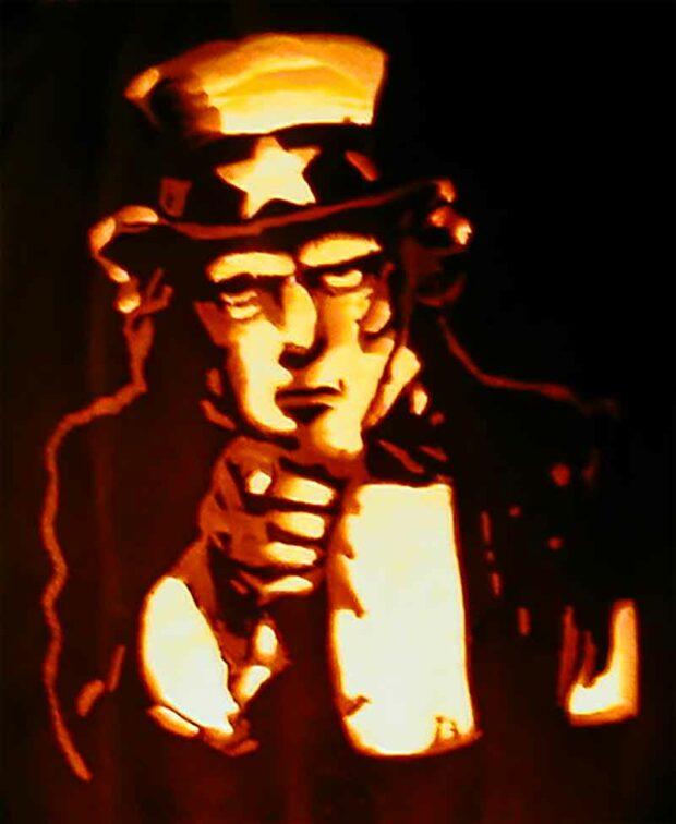 Uncle Sam Halloween Pumpkin Carving