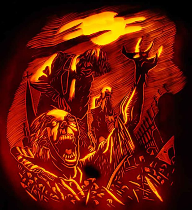 Zombie Awakening Pumpkin Carving