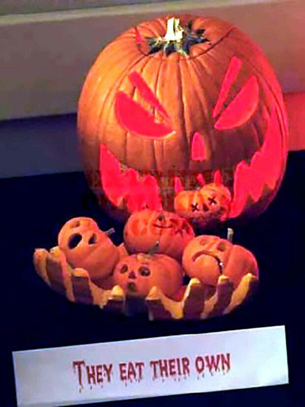 Cannibal Pumpkin - Funny Pumpkin Carving Idea