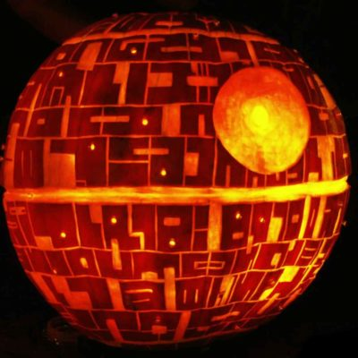 Death Star Halloween Pumpkin