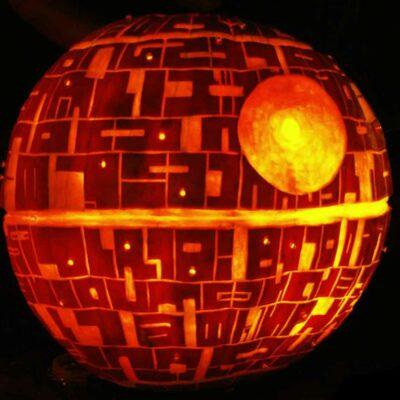 Death Star Halloween Pumpkin