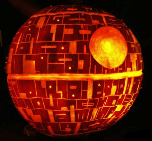 Death Star Halloween Pumpkin - Nerdy Pumpkin Carving Idea