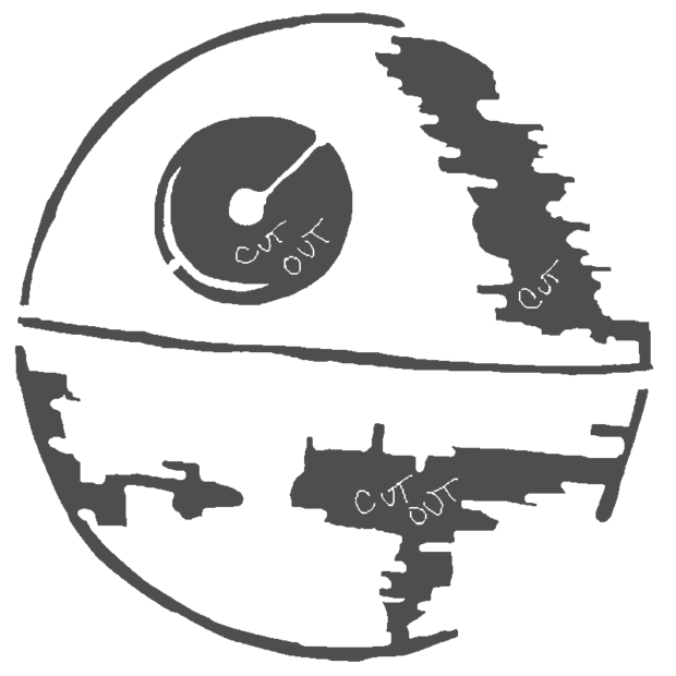 Death Star pumpkin carving template