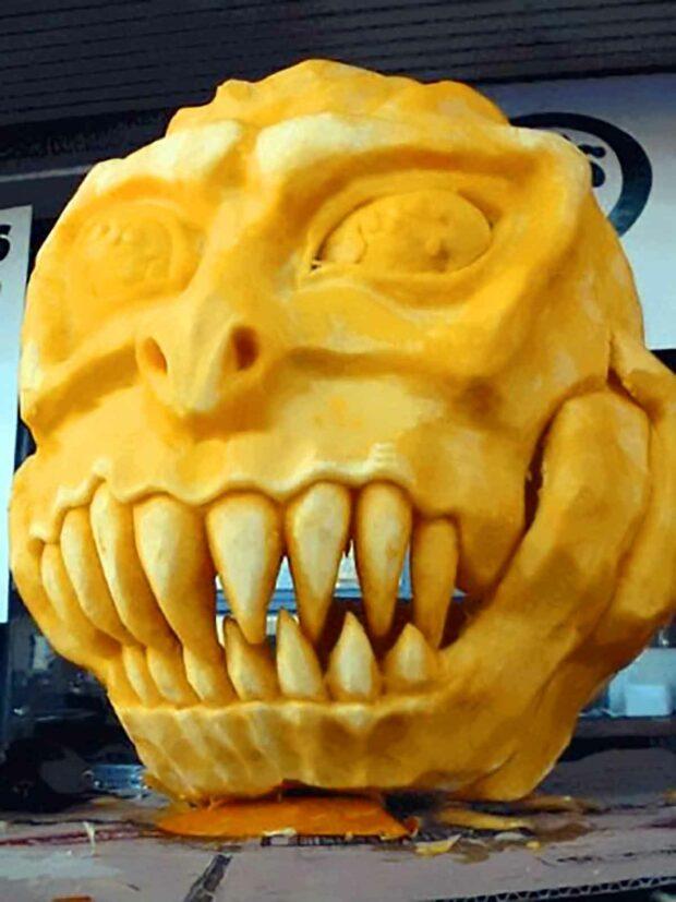Demon Pumpkin - Funny Pumpkin Carving Ideas