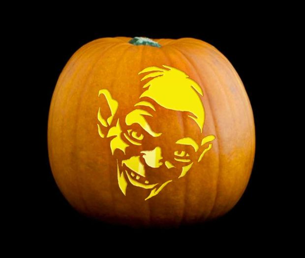Gollum Pumpkin Carving From The Lord Of The Rings