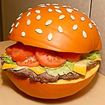 Hamburger Pumpkin Carving