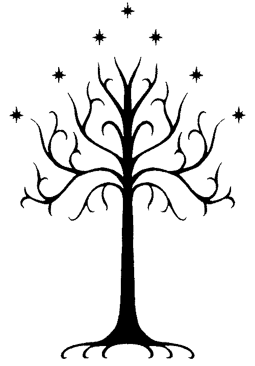 White Tree of Gondor Pumpkin Carving Template