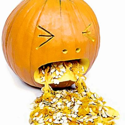 The Hungover Puking Pumpkin - Funny Pumpkin Carving Ideas