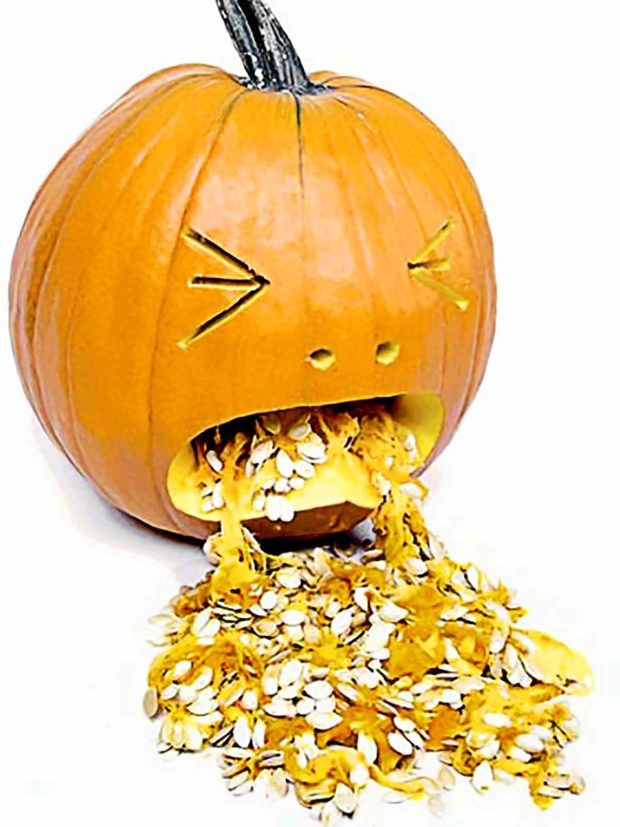 Hungover Pumpkin Carving - Funny Pumpkin Carving Ideas