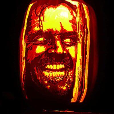 The Shining - Creepy Pumpkin Carving Template