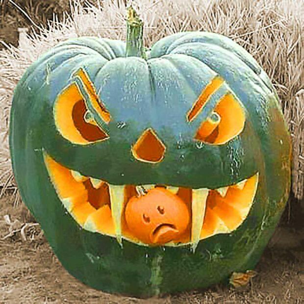 Vampire Pumpkin Decoration