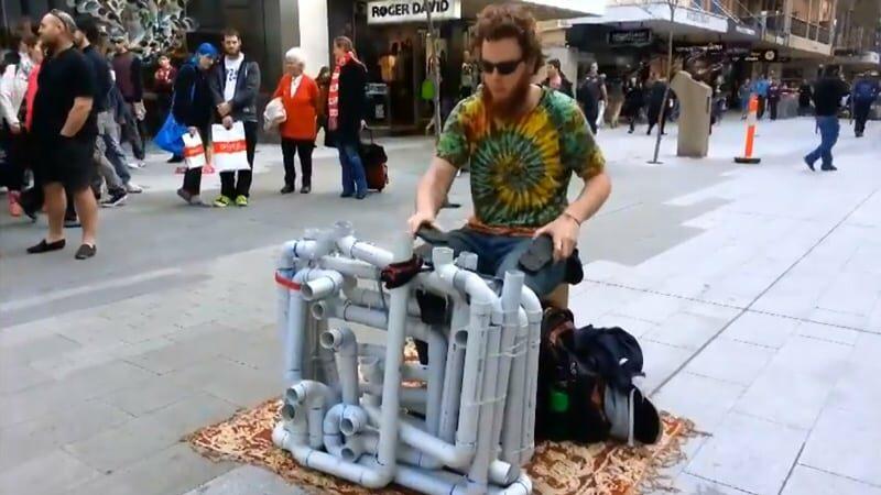 PVC Techno Street Musician