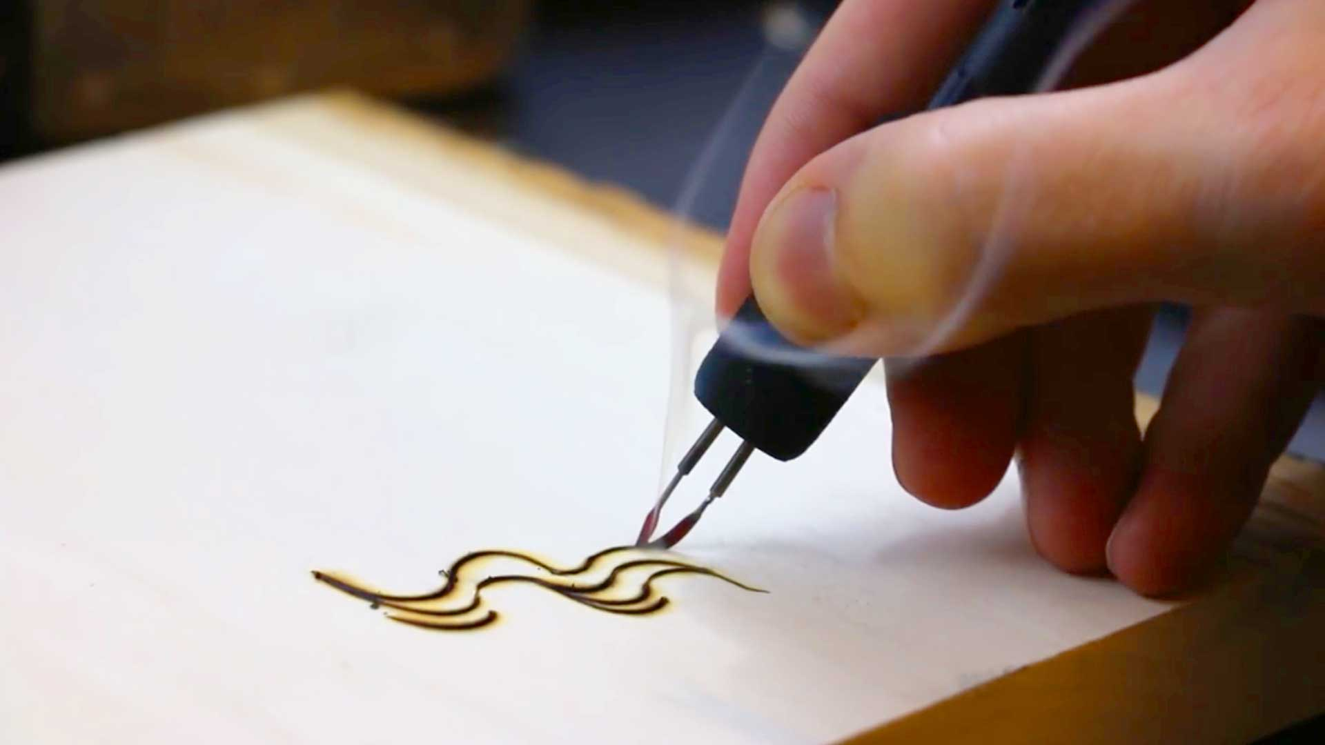 Pyrography Artist Burns Beautiful Swirls Into Wood With A Fire Pen